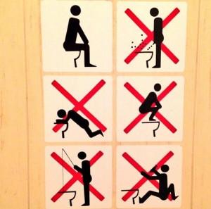 Sochi Bathroom Rules