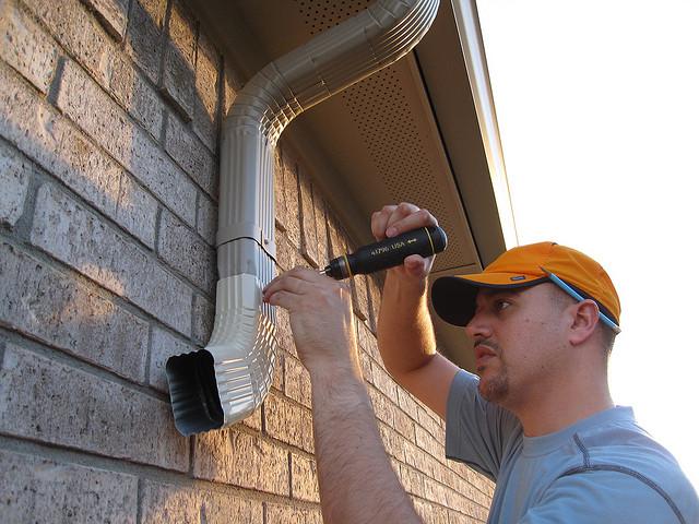 Fix A Leaking Downspout Gutter