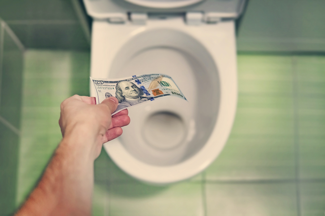 Hurting your plumbing is like flushing money down the toilet | Terry's Plumbing Pittsburgh